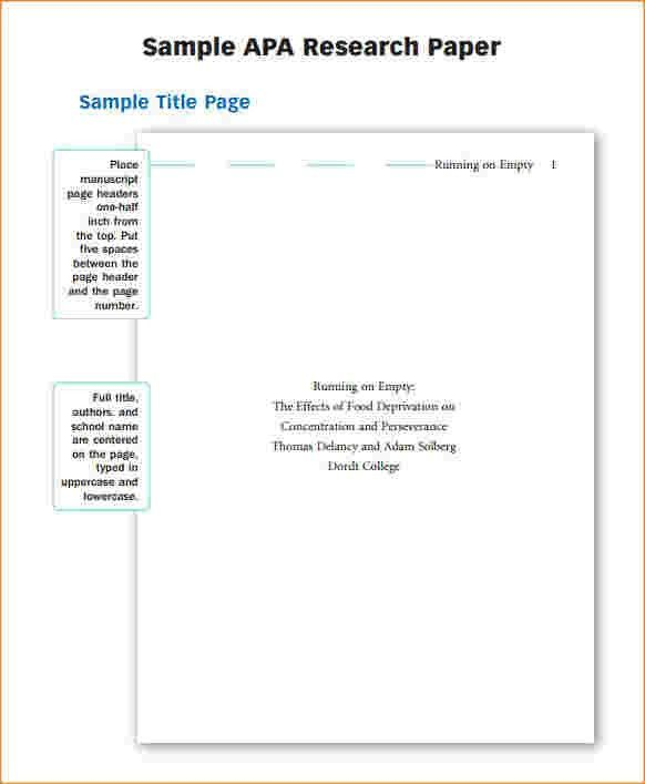 8+ research paper outline template apa | Outline Templates