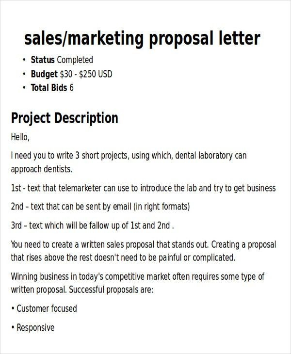 Sample Marketing Proposal Letter - 5+ Examples in PDF, Word