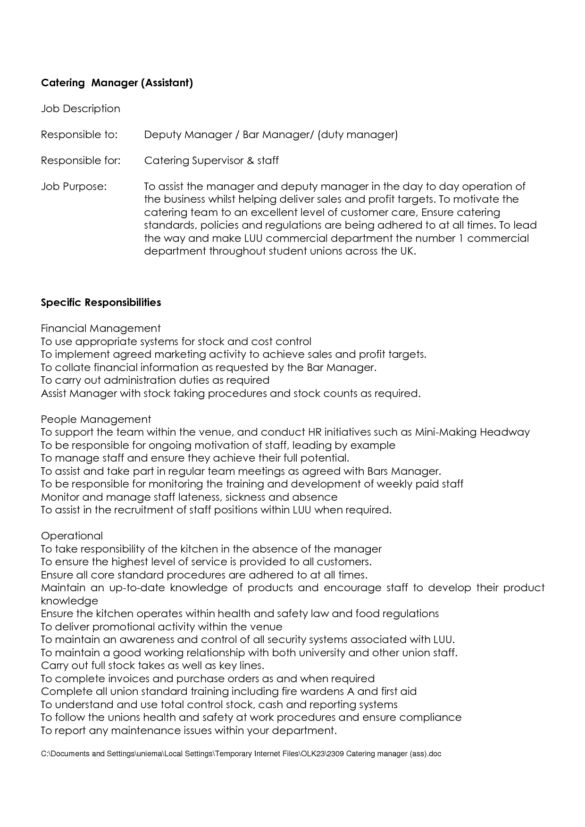 43 Creative Catering Sales Manager Resume Samples for Job Seekers ...