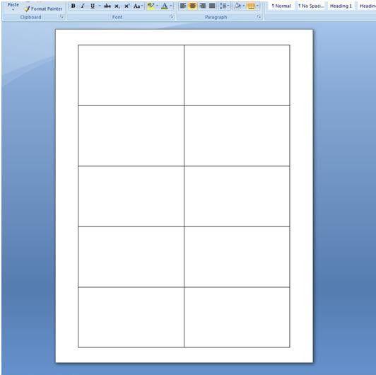 Blank Business Card Template | eknom-jo