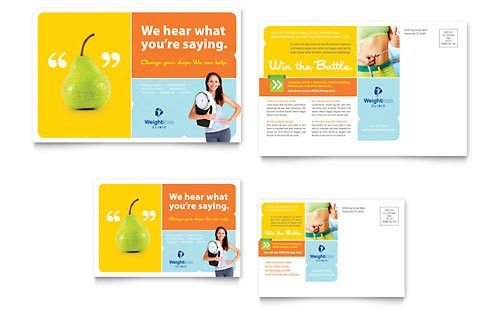 Medical & Health Care - Postcard Templates - Word & Publisher
