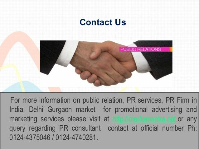 Leading public relation consultant in delhi gurgaon