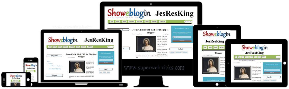 JesResKing – A Responsive Blogger Template