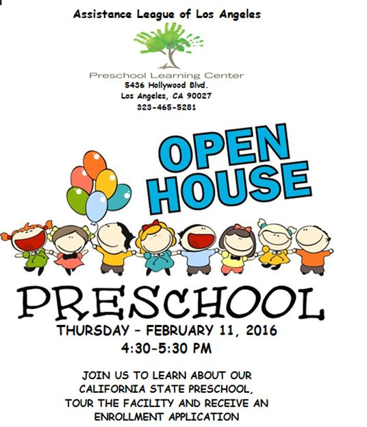 Preschool Learning Center's Open House Invitation — Assistance ...