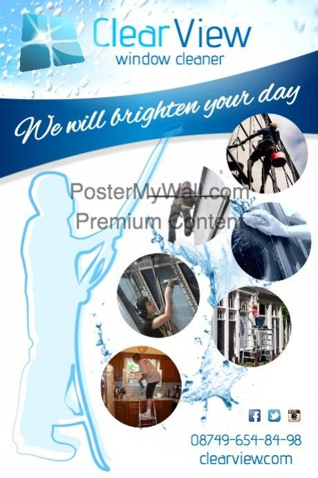 Window Cleaner Flyer template | PosterMyWall