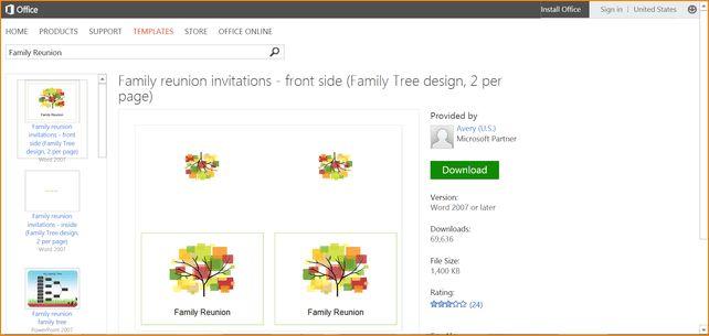 7+ family reunion templates | Outline Templates