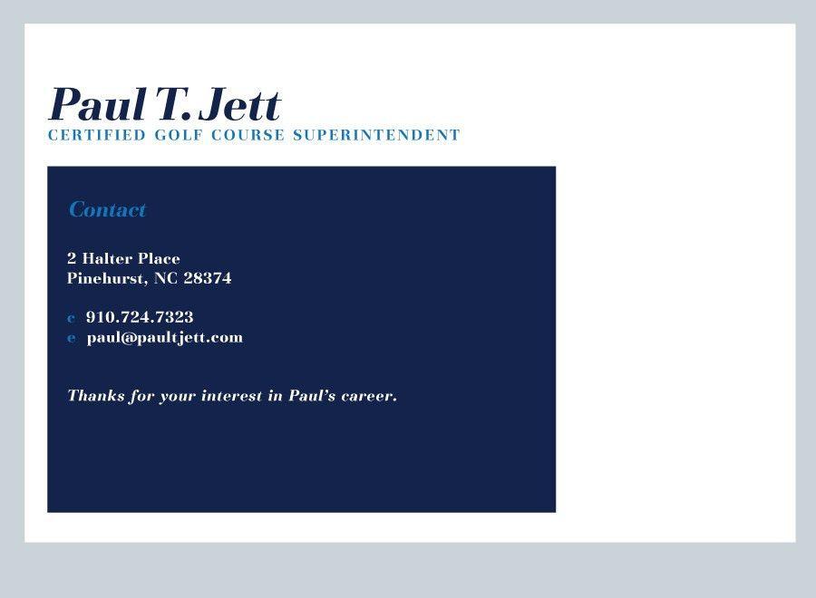 Paul T. Jett :: Certified Golf Course Superintendent