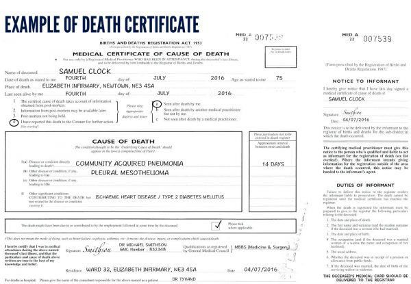Certification of Death (UK) - OSCE guide | Geeky Medics