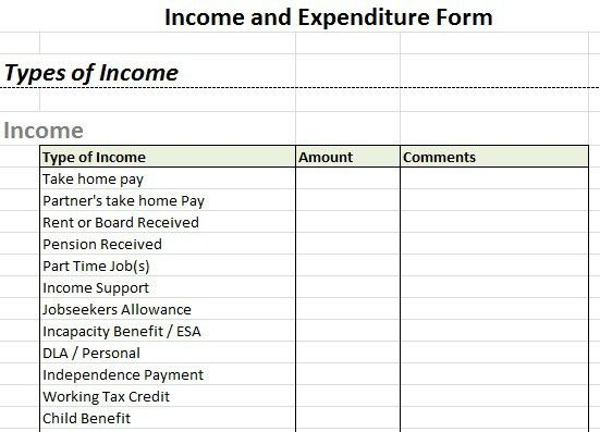 income and expense report template - Template
