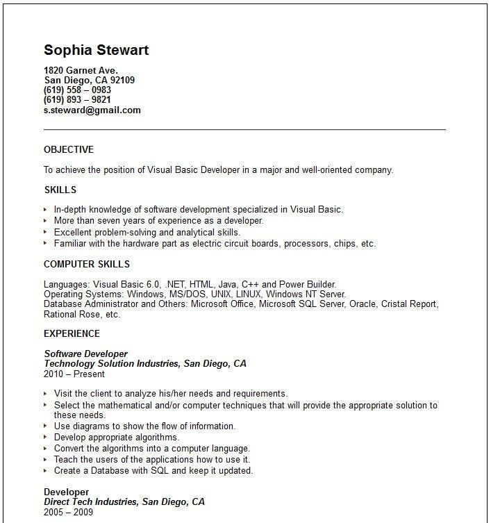 preschool teacher resume objective resume for teachers preschool ...