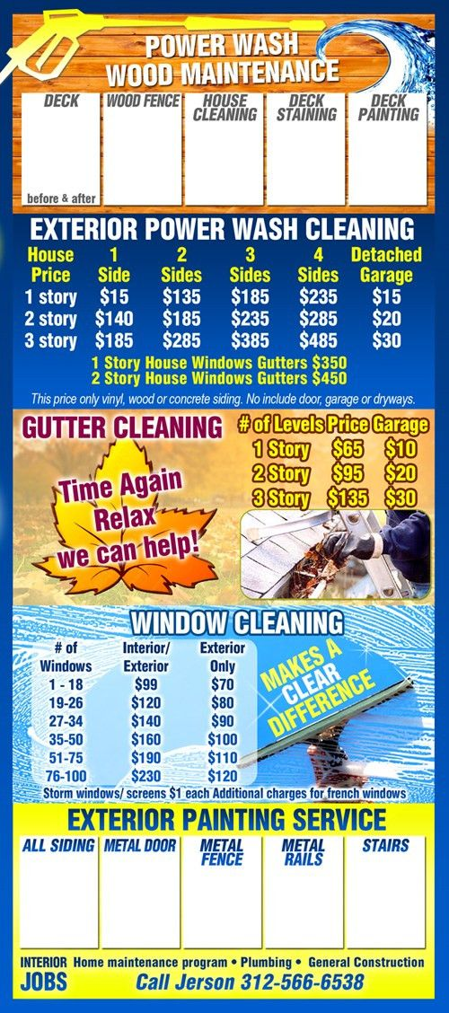 Painting & Power Washing Company Flyer | ChicagoInk.com Printshop