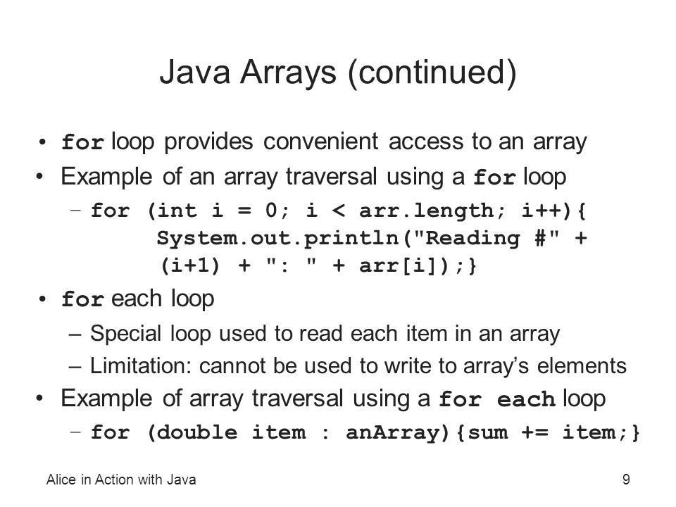 Alice in Action with Java - ppt video online download