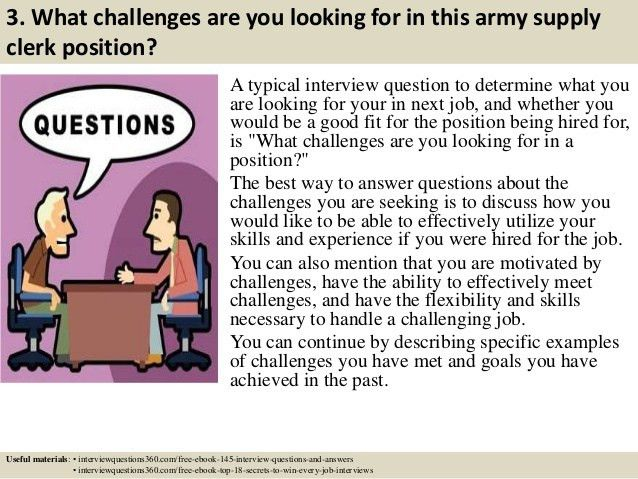 Top 10 army supply clerk interview questions and answers