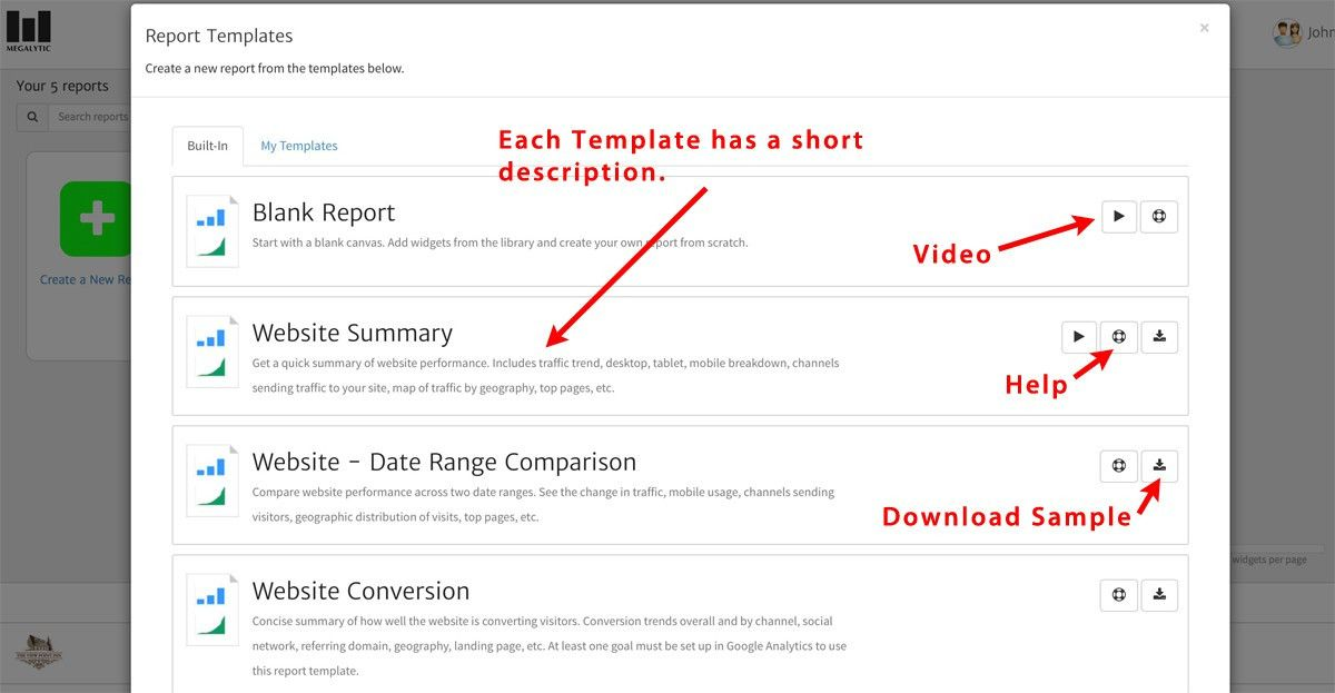 Top Monthly Report Templates in Megalytic | Megalytic Blog
