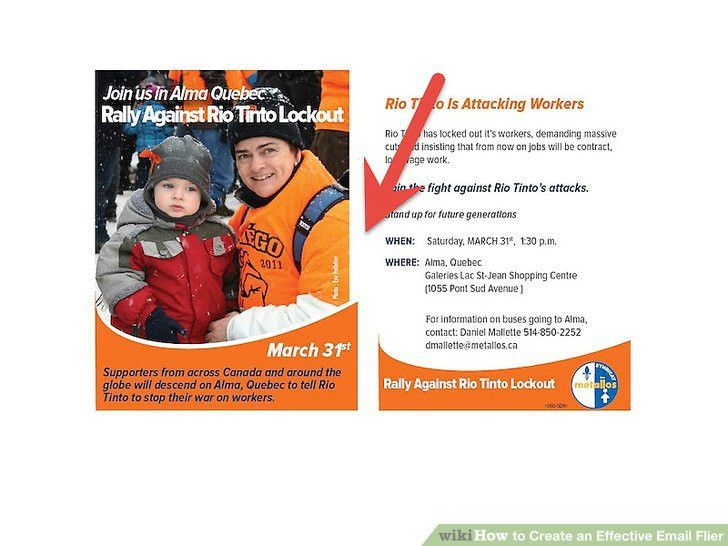How to Create an Effective Email Flier: 14 Steps (with Pictures)
