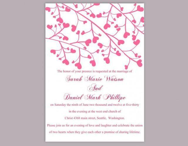 Wedding Invitation Template Download Printable Wedding Invitation ...