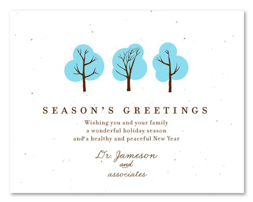Doctor's Wishes (plantable) | Business holiday cards, Green ...