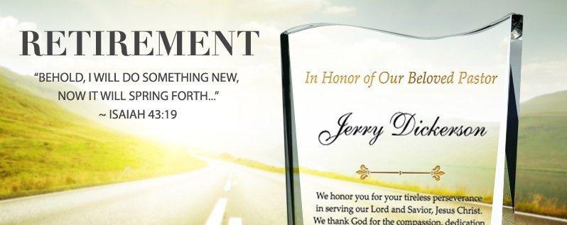 Pastor Retirement Quotes, Scriptures and Plaque Wording Ideas ...