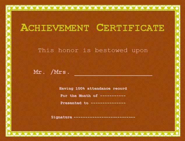 Certificate of Achievement Template | Free Word Templates