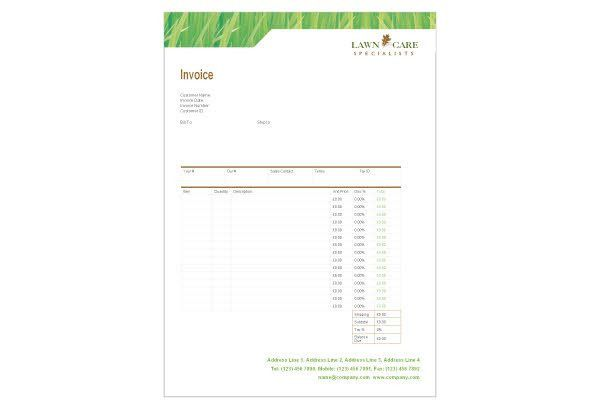 Create professional invoices for your business using the invoice ...