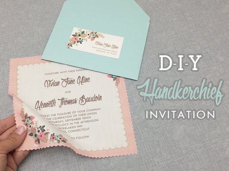 DIY Vintage Hanky Wedding Invitation with Free Template