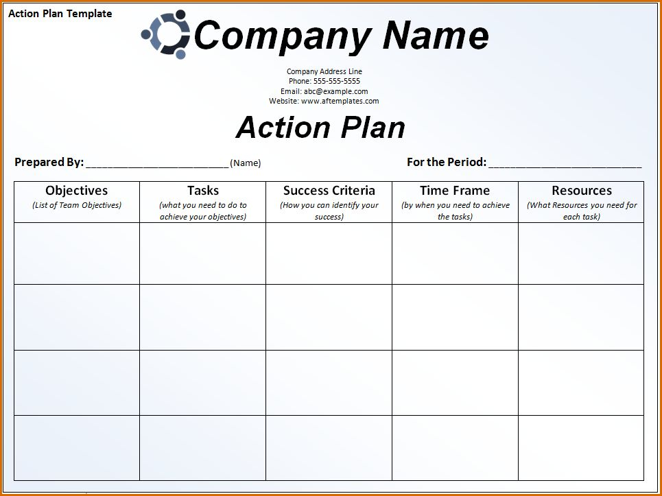 6+ action plan format | Authorizationletters.org