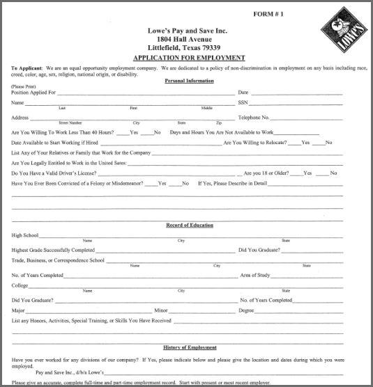 JOB APPLICATION FORM PDF | Bidproposalform.com