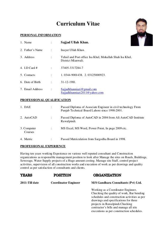 Download Construction Engineering Sample Resume ...