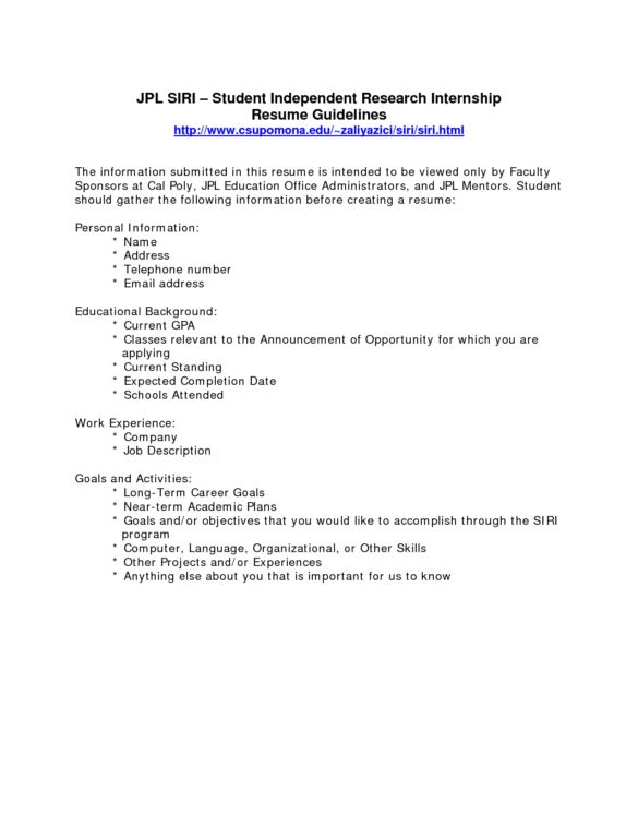 Very Simple Internship Resume Format with Work Experience also ...