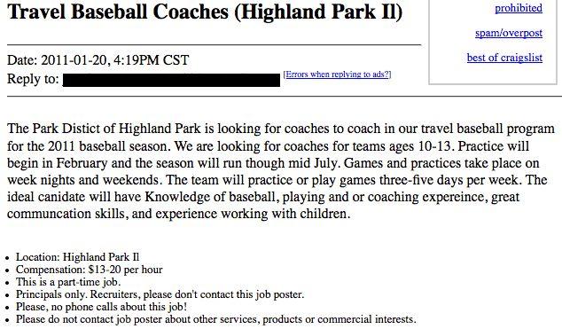 Lunatic Applies For Job As Children's Baseball Coach | Someecards ...