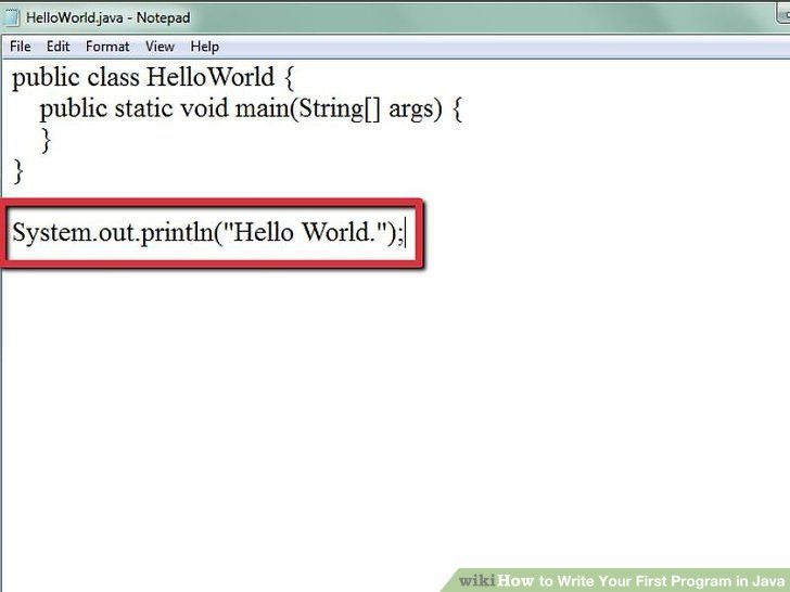 4 Ways to Write Your First Program in Java - wikiHow