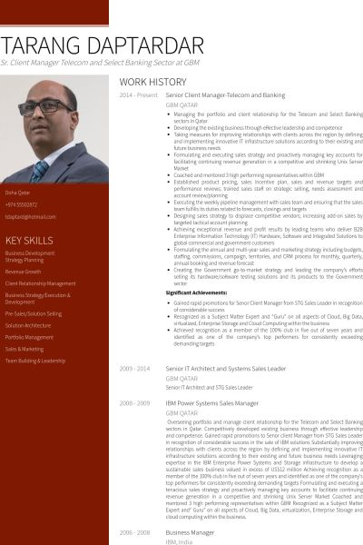Banking Resume samples - VisualCV resume samples database