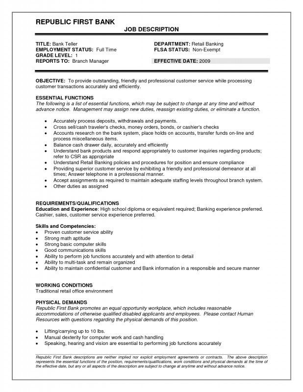 resume for teller bank teller resume example sample template job