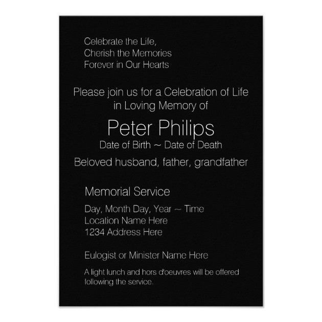 Wood Frame Template Funeral Announcement Add image | Zazzle.com