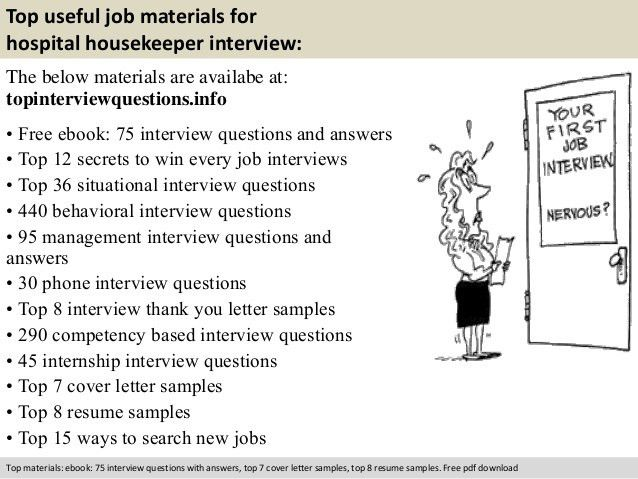 Hospital housekeeper interview questions
