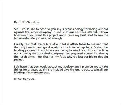 Apology Letters To Customer. Example Of Apology Letter To Customer ...