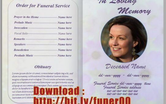Wonderful Free Funeral Program Template Microsoft Word