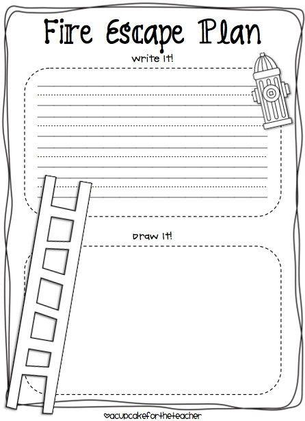 Printable Fire Escape Plan Template | shareitdownloadpc