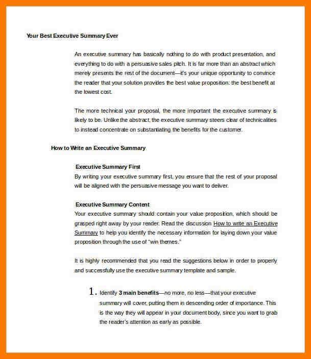 4+ example executive summary | park-attendant