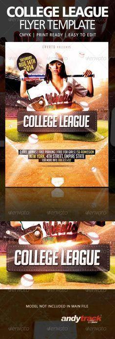 Baseball League Flyer Template PSD   Flyer Templates   Pinterest ...
