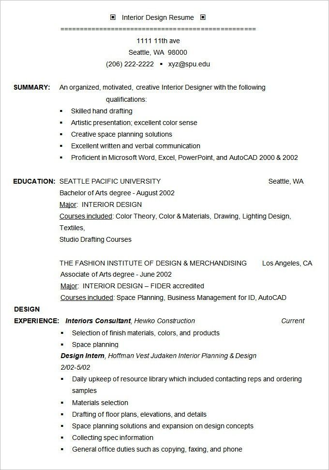 Resume Example – 19+ Free Samples, Examples, Format Download ...