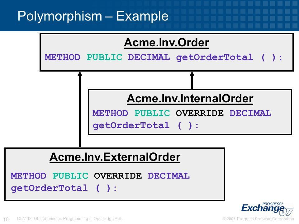 DEV-12: Object-oriented Programming in OpenEdge® ABL - ppt download