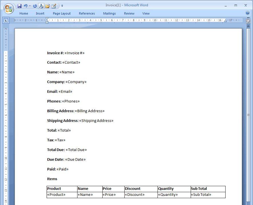 Document Templates - TeamDesk Documentation - Online Database for ...
