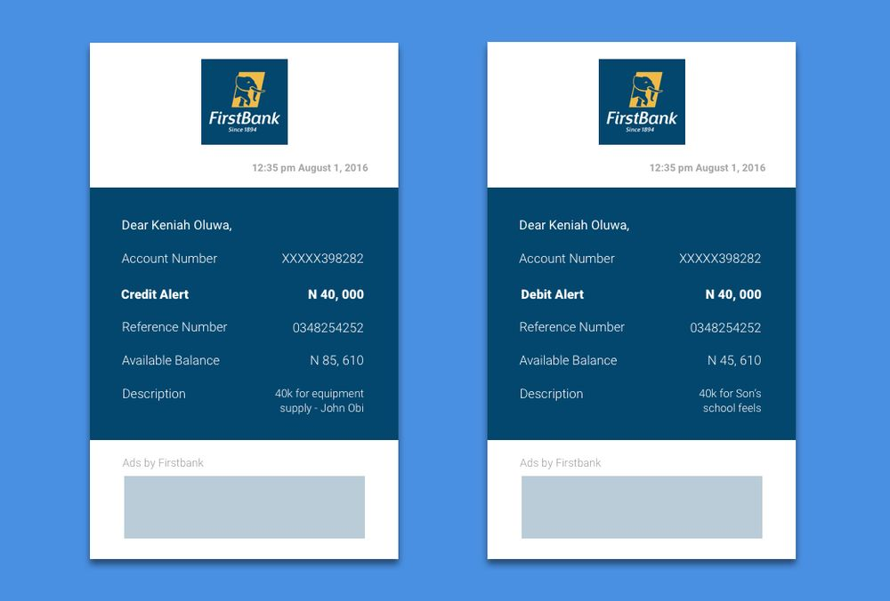 Bank Email receipt redesign — Chimdindu Aneke|
