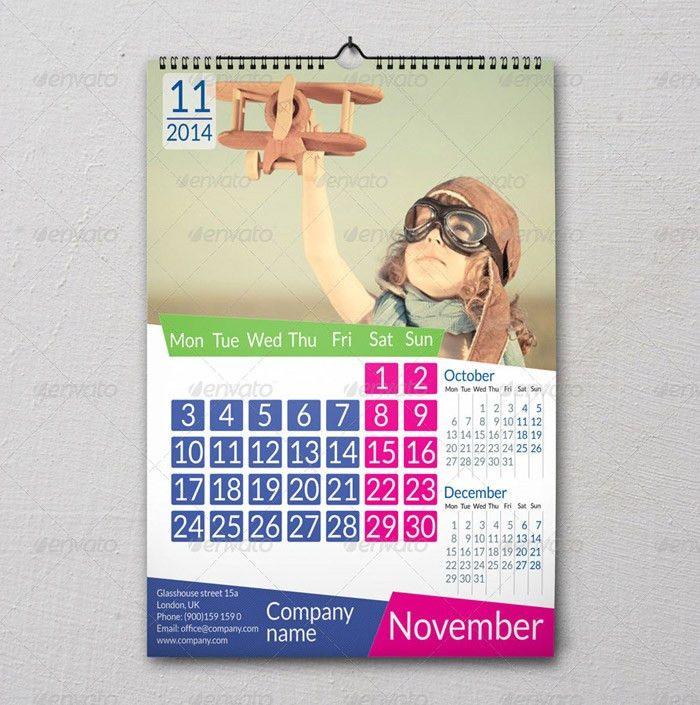 15 + Eye-catching Printable Calendar Templates