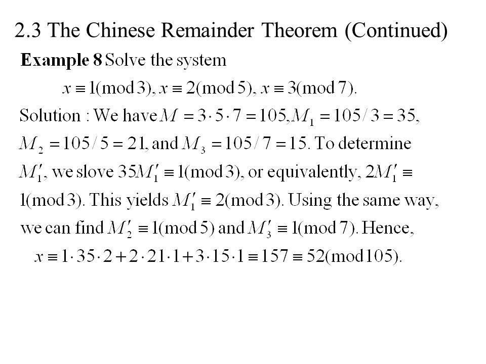 Lecture 2-3 Basic Number Theory and Algebra. In modern ...
