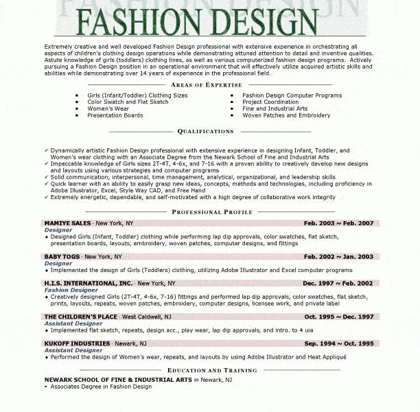 Download Fashion Designer Resume | haadyaooverbayresort.com