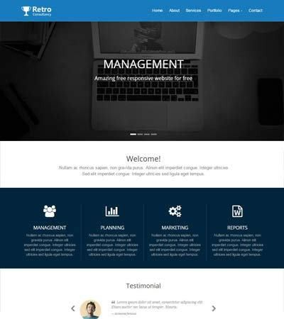 Free HTML5 Responsive Web Template Consulting