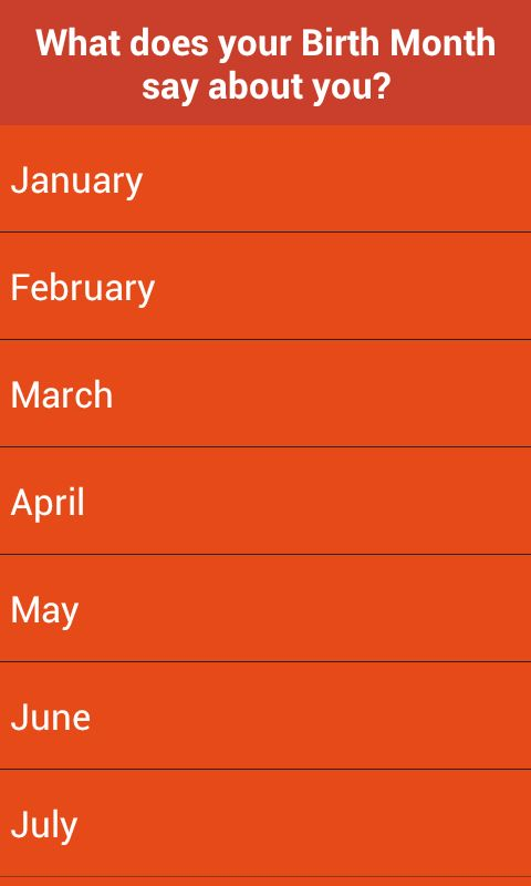 Your Birth Month meaning - Google Play Store revenue & download ...