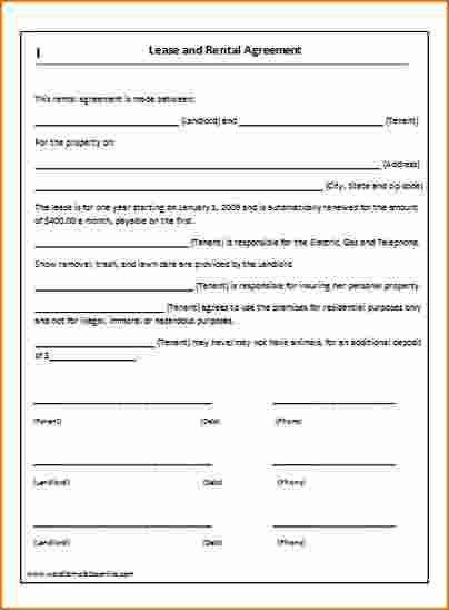 7+ Simple Lease Agreement | Printable Receipt
